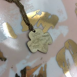 VINTAGE | be prepared Girl Scout pendant necklace